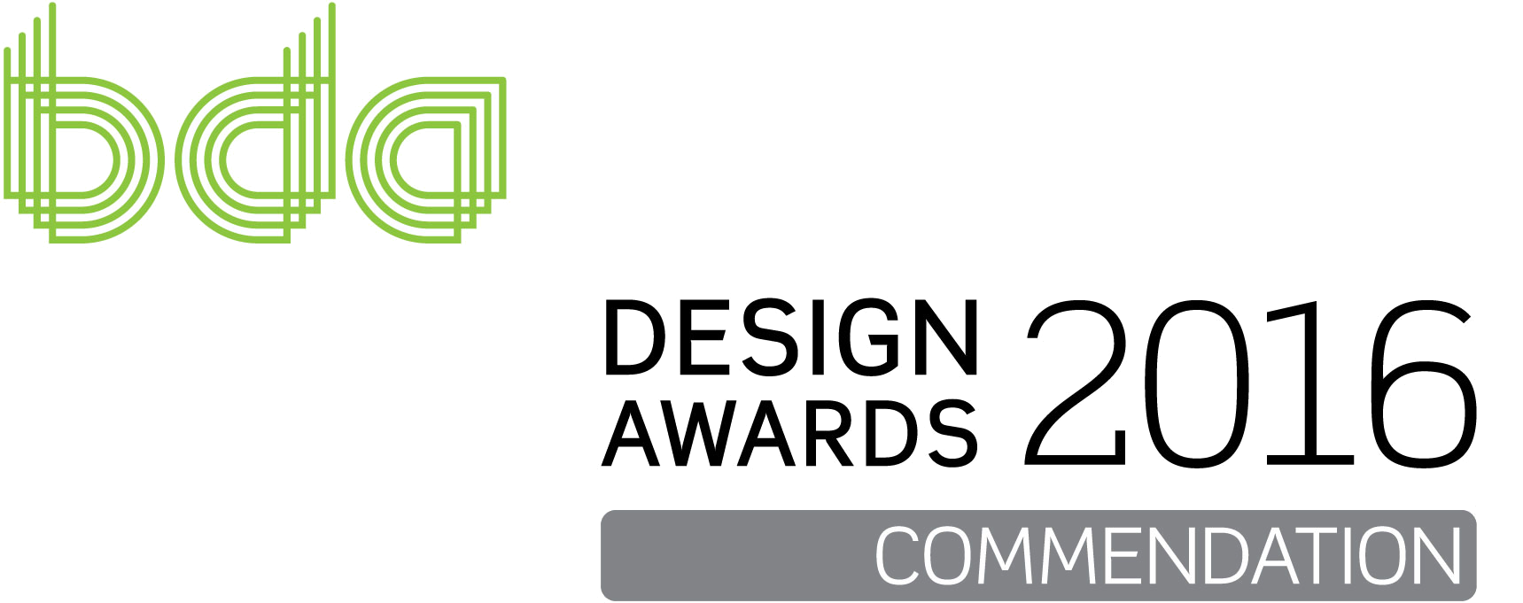 BDA Designs Awards Logo Commendation